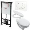Alcaplast AM101 beépíthető WC tartály SZETT fehér nyomólappal s010 SANISET010