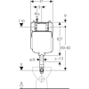 Geberit falsík alatti WC tartály keskeny kivitel 8cm GE-109.791.00.1 rajza