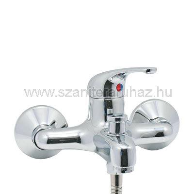 Mofém Junior Eco kádtöltő csaptelep zuhanyszettel fix fali tartóval