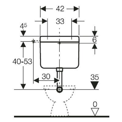 Geberit Fontana műszaki rajz