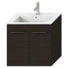 Jika Cube fürdőszobaszekrény mosdóval komplett 65 cm 2 ajtós tölgy