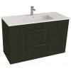 Jika Cube fürdőszobaszekrény mosdóval komplett 100 cm 2 fiókos tölgy