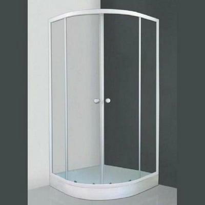 Roltechnik Apollo Set 800 íves zuhanykabin fehér profil transparent üveg zuhanytálcával