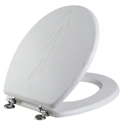 Bisk WC ülőke MDF faerezetű fehér 05942
