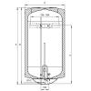 Hajdu Z80ERP fali függőleges bojler 80 liter H-2111811115 rajza