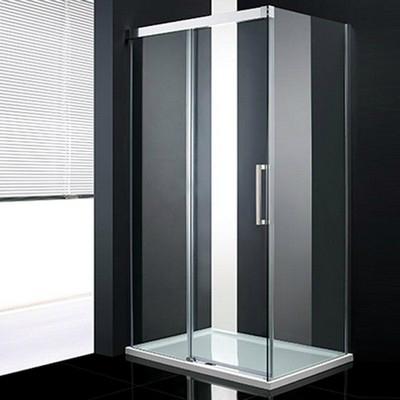 Wellis Fabio 120x90 szögletes zuhanykabin alumínium profil átlátszó üveg