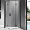 Wellis Murano 90 szögletes zuhanykabin fekete profil átlátszó üveg WC00420