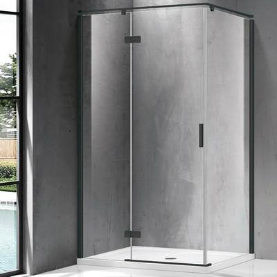 Wellis Palmaria 120x90 téglalap zuhanykabin fekete profil átlátszó üveg balos WC00421