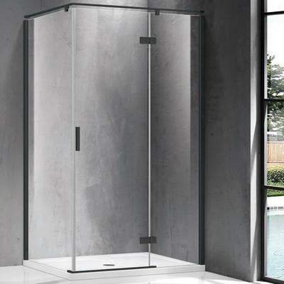 Wellis Palmaria 120x90 téglalap zuhanykabin fekete profil átlátszó üveg jobbos WC00427