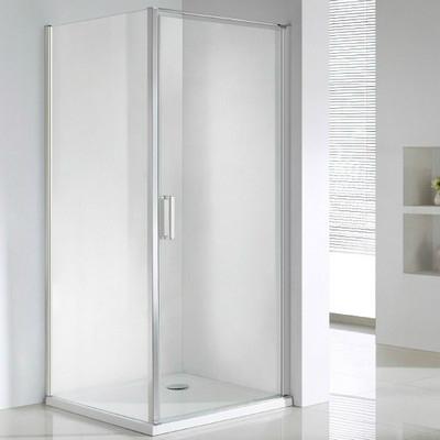 Wellis Quadrum 90 szögletes zuhanykabin alumínium profil átlátszó üveg WC00332
