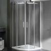 Wellis Virgo 90 íves zuhanykabin alumínium profil átlátszó üveg WC00324