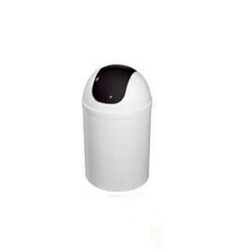 Bisk 5l billenős szemetes fehér fekete műanyag 07546