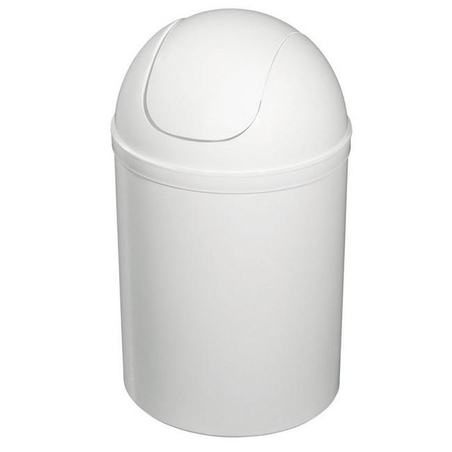 Bisk 5l billenős szemetes fehér műanyag 90302