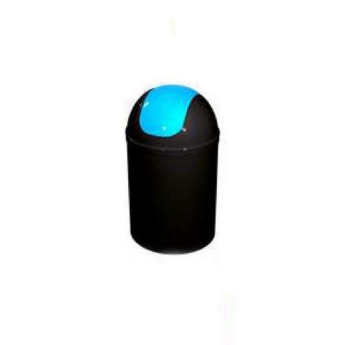 Bisk 5l billenős szemetes fekete kék műanyag 07548