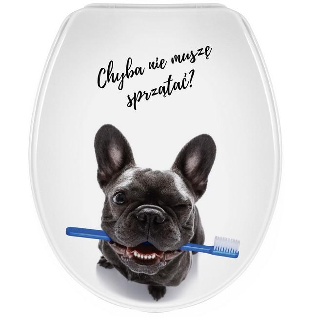 Bisk Iris WC ülőke kutya mintás PP műanyag Easy 07990