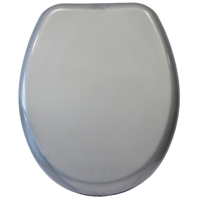 Bisk Iris WC ülőke metálszürke PP műanyag Easy 05867