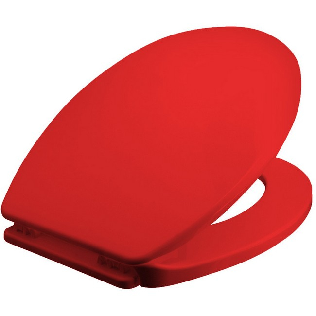 Bisk Iris WC ülőke piros PP műanyag Easy 05866