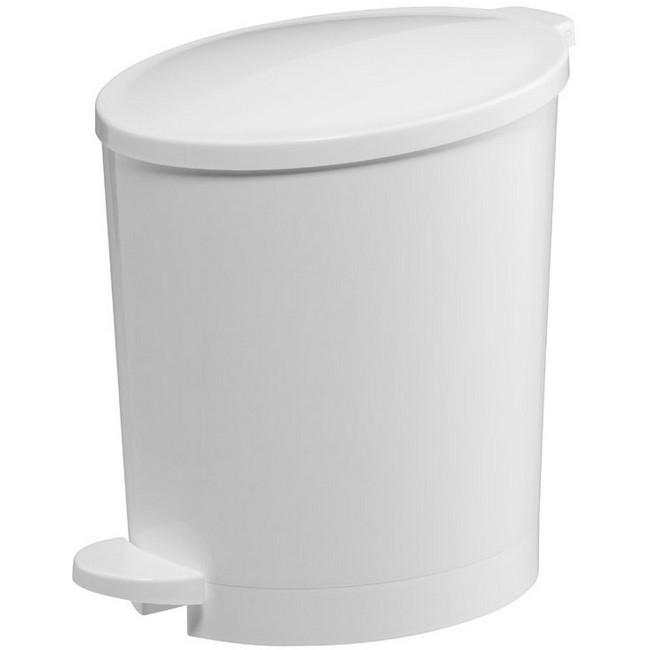 Bisk Pop 4l pedálos szemetes fehér műanyag 03306