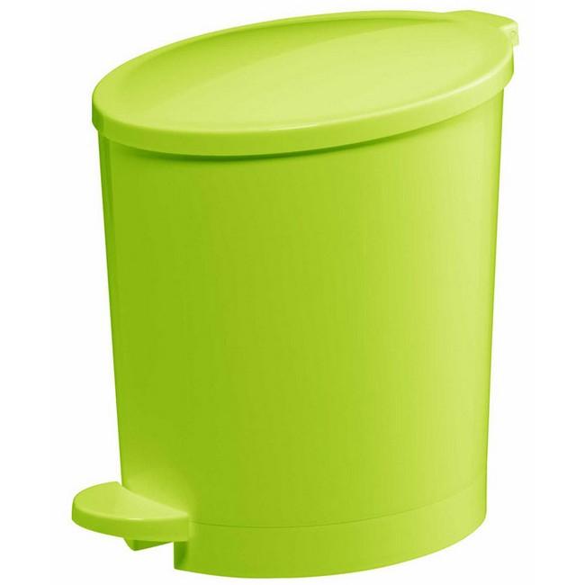 Bisk Pop 4l pedálos szemetes zöld citrom műanyag