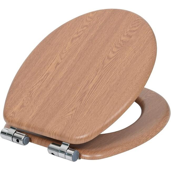 Bisk WC ülőke MDF faerezetű tölgy Softclose 07906
