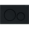 Geberit SIGMA 20 műanyag nyomólap fekete matt fekete kombináció