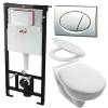 Alcaplast AM101 beépíthető WC tartály SZETT fényes króm nyomólappal s008 SANISET008