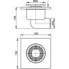 Alcapalst APV3 padló összefolyó oldalsó kifolyású APV3 rajza