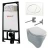 Alcaplast sarokba építhető WC tartály SZETT fehér nyomólappal s110
