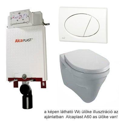 Alcaplast A100 beépíthető WC tartály SZETT fehér nyomólappal s004