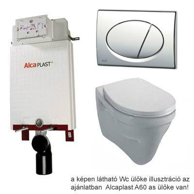 Alcaplast A100 beépíthető WC tartály SZETT fényes króm nyomólappal s005