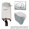 Alcaplast A100 beépíthető WC tartály SZETT matt króm nyomólappal s006