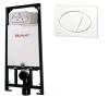 Alcaplast A101 beépíthető WC tartály szerelőkerettel fehér nyomólappal s007