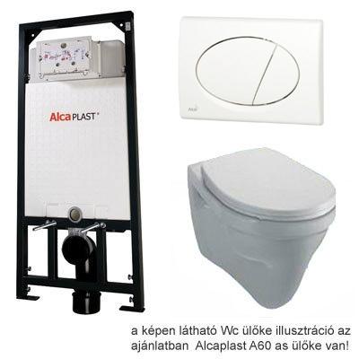 Alcaplast A101 beépíthető WC tartály SZETT fehér nyomólappal s010
