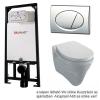 Alcaplast A101 beépíthető WC tartály SZETT fényes króm nyomólappal s008