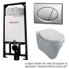 Alcaplast A101 beépíthető WC tartály SZETT matt króm nyomólappal s009