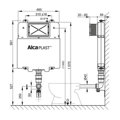 Beépíthető wc tartály