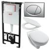 Alcaplast AM101 beépíthető WC tartály SZETT matt króm nyomólappal s009