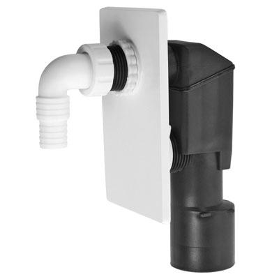 Alcaplast APS4 falba szerelhető mosógépszifon fehér előlappal