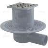 Alcaplast APV102 oldalsó kifolyású rozsdamentes padlólefolyó