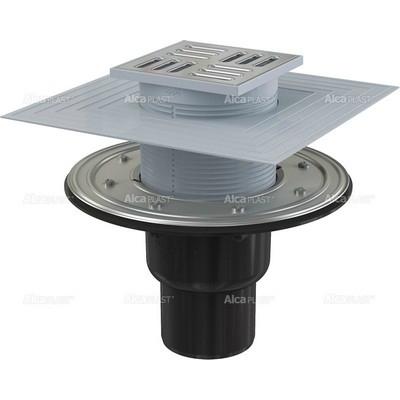 Alcaplast APV4344 alsó kifolyású rozsdamentes padlólefolyó