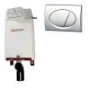 Alcaplast A100 beépíthető WC tartály szerelőkeret nélkül fényes króm nyomólappal s012