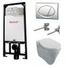 Alcaplast sarokba építhető WC tartály SZETT fényes króm nyomólappal s108