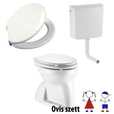 Alföldi Bázis gyerek Wc ülőkével alcsonyra szerelhető WC tartállyal szettbe