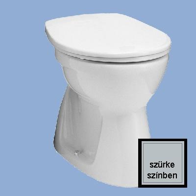 Alföldi Bázis laposöblítésű alsó kifolyású NYÚJTOTT WC csésze szürke
