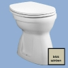 Alföldi Bázis laposöblítésű alsó kifolyású WC csésze bézs