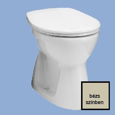 Alföldi Bázis laposöblítésű alsó kifolyású NYÚJTOTT WC csésze bézs