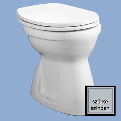 Alföldi Bázis laposöblítésű alsó kifolyású WC csésze szürke