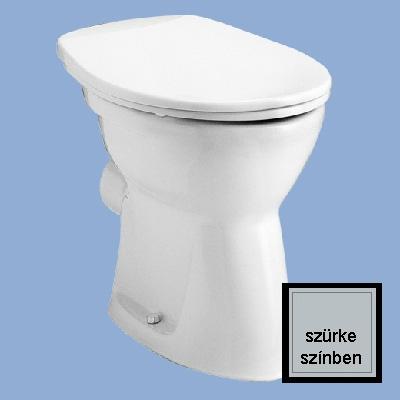 Alföldi Bázis laposöblítésű hátsó kifolyású álló WC csésze szürke