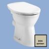 Alföldi Bázis laposöblítésű hátsó kifolyású álló WC csésze bézs