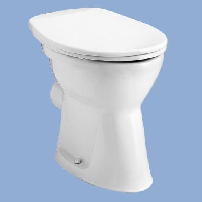 Alföldi Bázis laposöblítésű hátsó kifolyású álló WC csésze 4030-00-01